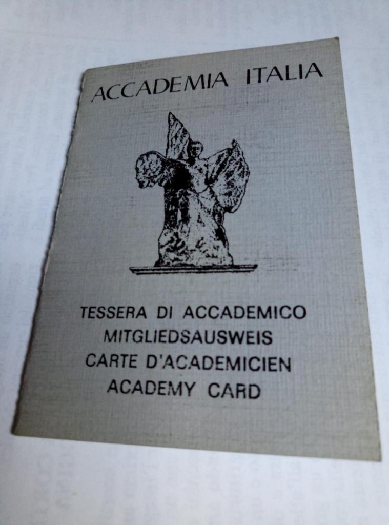 Tessera Accademia Italia